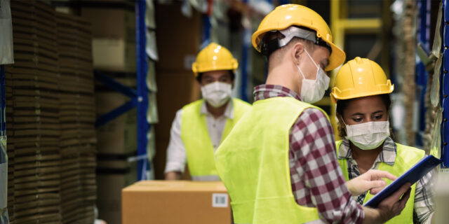 An image of warehouse workers