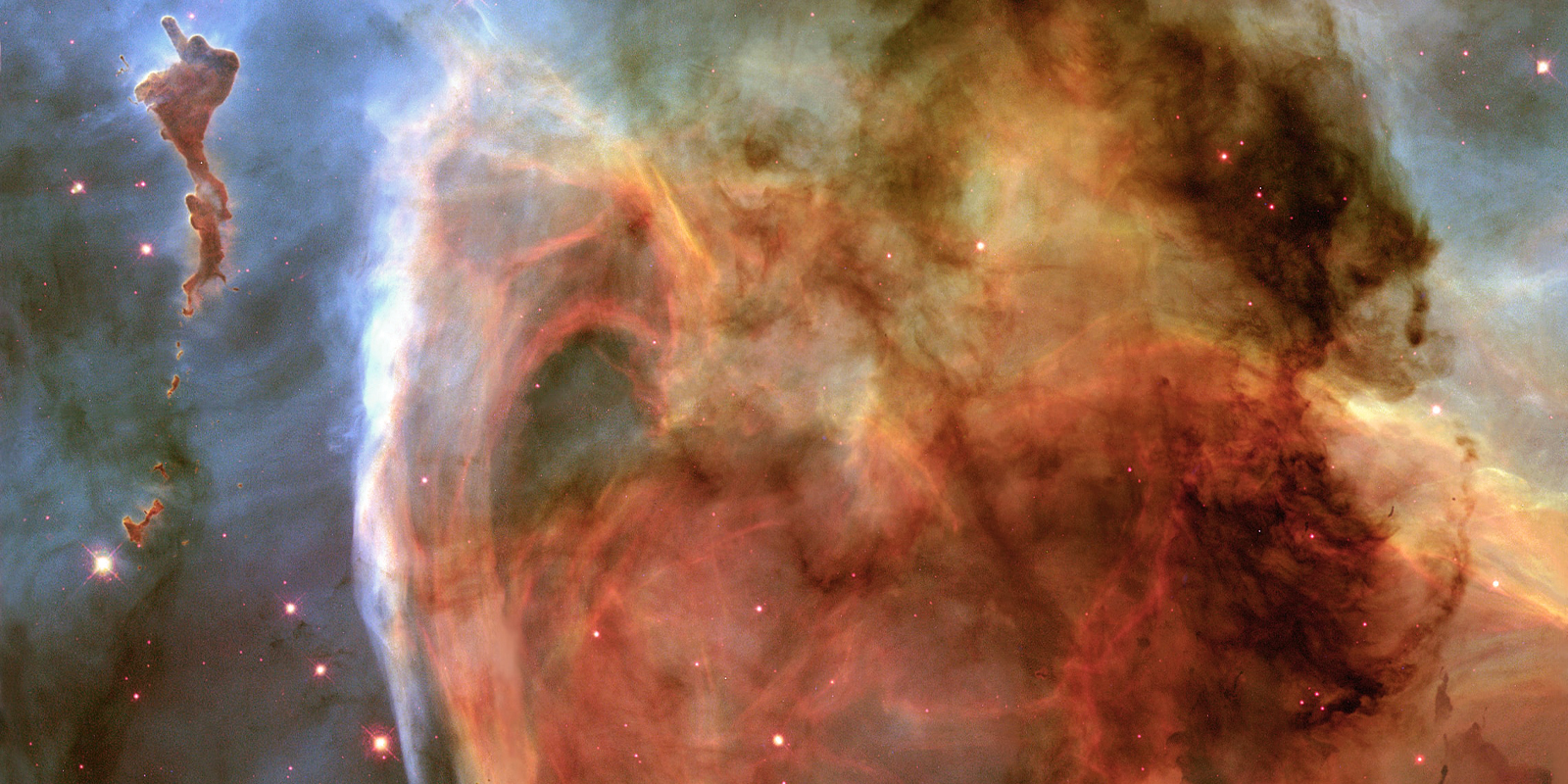An image of beautiful nebulas in space