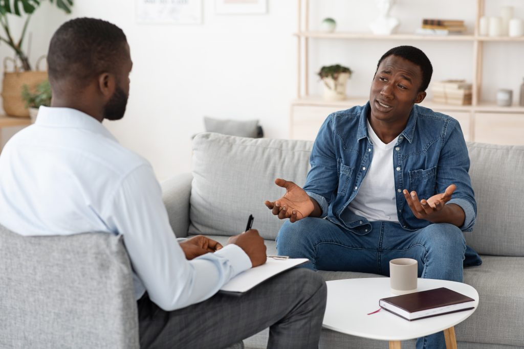 Two people counselling
