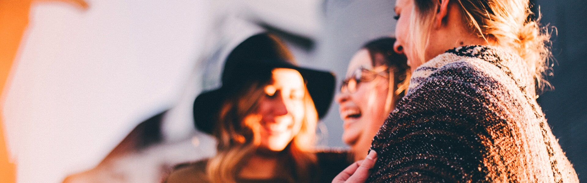 a group of female friends laughing