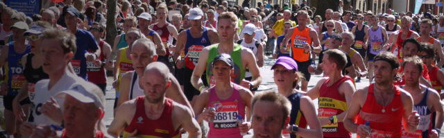 An image of many people running a race.